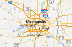 Hennepin County food shelf map