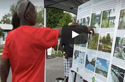 A man in the Minneapolis Greenway Project video